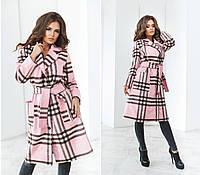Пальто на запах классическое, с накладными карманами 48+ 1580-39