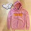 Thrasher Pink мужская худи • Бирка топовая • Трешер розовая толстовка, фото 4