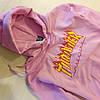 Thrasher Pink мужская худи • Бирка топовая • Трешер розовая толстовка, фото 2