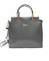 Сумка  Dior серая средняя