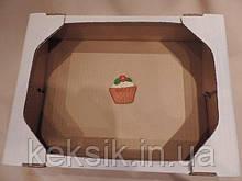 Коробка без крышки большая 38*28,2*9,2 см кондитерский евро поддон на 3 кг