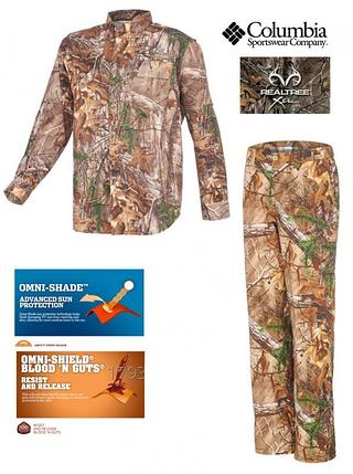 Костюм летний для охоты и рыбалки Columbia PHG Men Blood and Guts Shirt and Pant NWT, фото 2