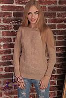 Женский вязаный свитер из акриловой нити