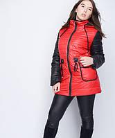 Куртка на кулиске №30 красный-черный р. 46-48