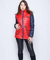 Куртка на кулиске №30 красный-синий р. 46-48