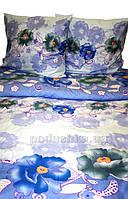 Постельное белье Nostra полиэстер 888 Blue Двуспальный комплект