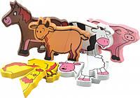 Магнитные фигуры Мир деревянных игрушек Ферма (Д004)