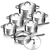 Набор кухонной посуды из нержавеющей стали 12 предметов Blaumann BL-1410