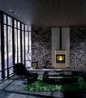 Отопительная печь-камин длительного горения AQUAFLAM 25 (водяной контур, ручная рег, кремовый), фото 5