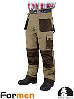 Брюки рабочие мужские утепленные коричневые FORMEN Lebber&Hollman Польша (штаны рабочие зимние) LH-FMNW-T BE3