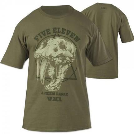 Футболка тактическая 5.11 Tactical Apex Predator T-Shirt Khaki, фото 2