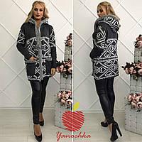 Пальто вязаноеженское норма ЯС563