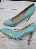 Туфли лодочки классика  шпилька  бирюзовый цвет,мятный