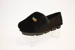 Туфли женские с мехом Fialka 3601