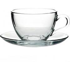 Чашка с блюдцем 220 мл/140 мм BASIC Pasabahce