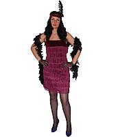 Платье Гангстерши, бордовое