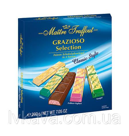 Черный и молочный  шоколад Grazioso Selection Classic style  Maitre Truffout  , 200 гр, фото 2
