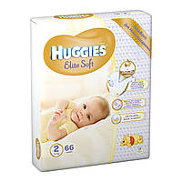 Подгузники Huggies Elite Soft Newborn 2 (4-7 кг) 66 шт.