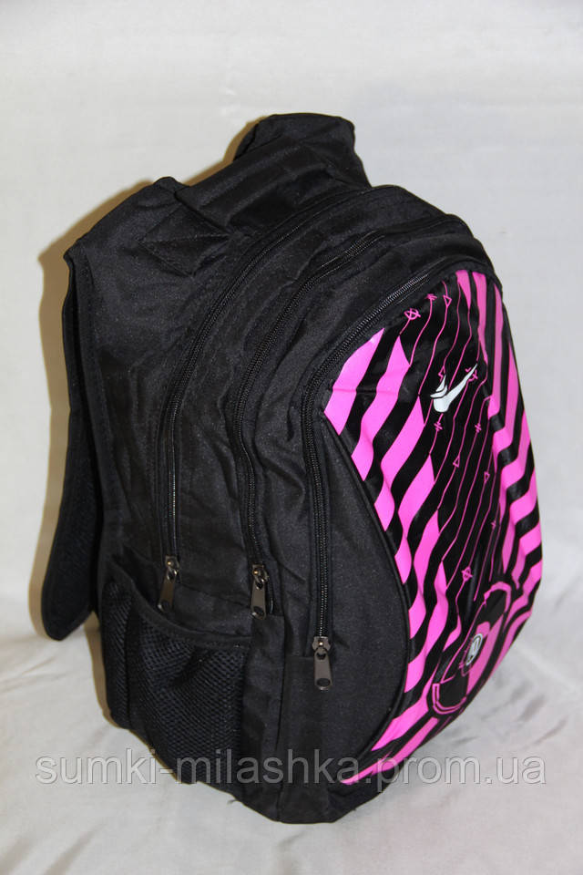 Школьный ортопедический черный рюкзак для старшекласников