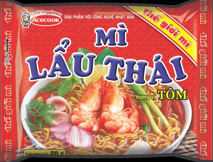 Лапша быстрого приготовления  креветка Mi Lau Thai 75г (Вьетнам)