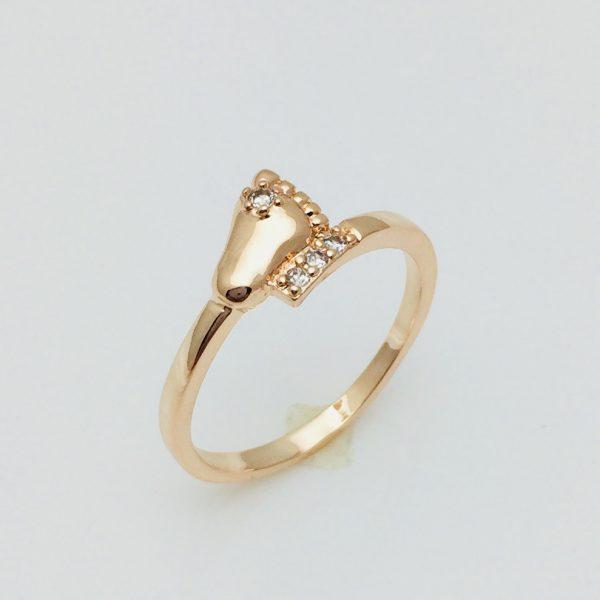 Женское кольцо Детская ножка, размер 17, 19 ювелирная бижутерия