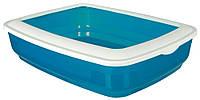 TRIXIE (Трикси) CISCO - туалет для кошек с рамкой полупрозрачный (38×11×50см) - цвет в асортименте