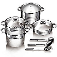 Набор кухонной посуды из нержавеющей стали 8 предметов Blaumann BL-3138