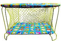 """Манеж детский игровой""""KinderBox"""" (веселая ферма)с крупной сеточкой"""