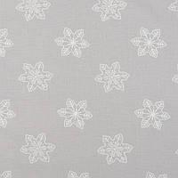 Хлопковая ткань Снежинки на светло-сером, фото 1