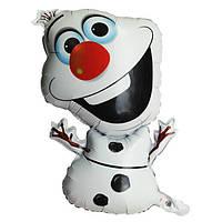 Шар воздушный фольгированный снеговик Олаф /Olaf   52*73 см