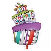 Шар воздушный Торт MixColor 70 cm
