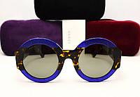 Женские солнцезащитные очки Gucci GG 0084/S (Blue-leo)