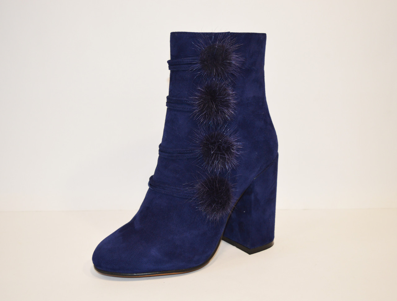 Ботинки женские замшевые синие Veritas 1728