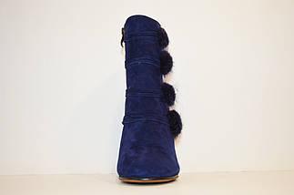 Ботинки женские замшевые синие Veritas 1728, фото 3