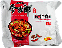Китайская лапша  рамэн быстрого приготовления говядина остр. JML INSTANT NOODLE 90г