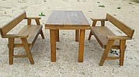 Набор деревянной мебели 2 ( стол, две лавки )
