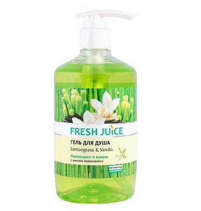 """Fresh Juice Гель для душа """"Лемограс и Ваниль"""" 750 ml"""