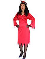 Платье Демоница, красное