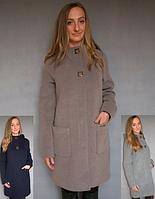 Модное теплое пальто прямого кроя Letta