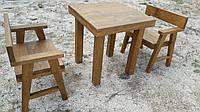 Набор деревянной мебели 2м ( стол, два кресла )