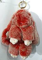 Брелки из меха- кролики 20 см. Меховые брелки для ключей и сумок оптом 74