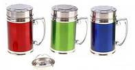 Термокружка нержавеющая круглая разных цветов V 280 мл (шт)