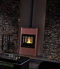 Отопительная печь-камин длительного горения AQUAFLAM 25 (водяной контур, полуавтомат, бронза), фото 5