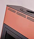 Отопительная печь-камин длительного горения AQUAFLAM 25 (водяной контур, полуавтомат, бронза), фото 2
