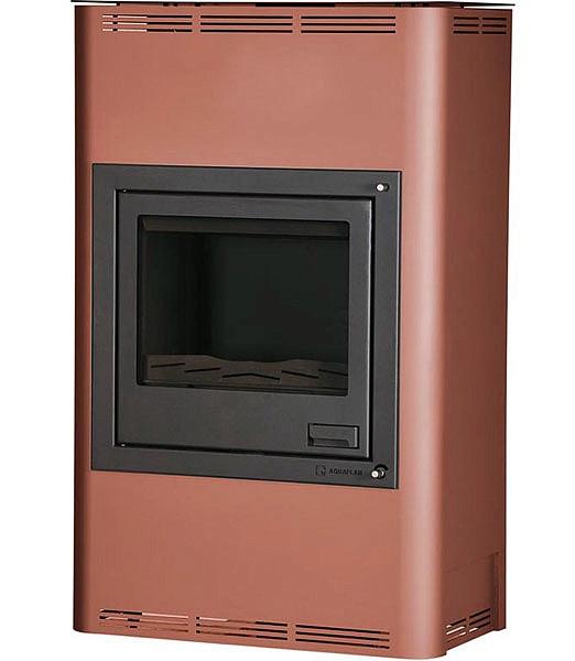 Отопительная печь-камин длительного горения AQUAFLAM 25 (водяной контур, полуавтомат, бронза)