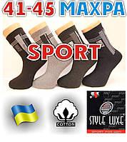 Носки мужские махровые спорт х/б STYLE LUXE Стиль Люкс  Украина ассорти 41-45р. НМЗ-04137