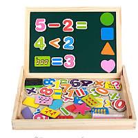 Деревянная игрушка Магнитная досточка с цифрами