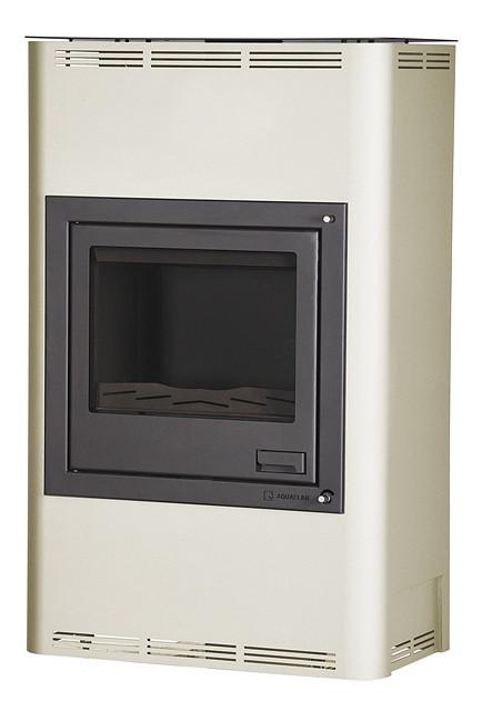 Отопительная печь-камин длительного горения AQUAFLAM 25 (водяной контур, полуавтомат, кремовый)