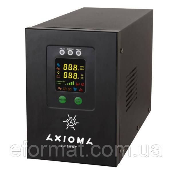 Гибридный ИБП+стабилизатор 1500ВА/1050Вт/24В + MPPT контроллер 40А 24В, AXIOMA energy AXEN.IS-1500