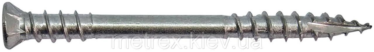 Шуруп для терасної дошки двухрезьбовой HW-T2i 5.0х40 мм, нерж А2